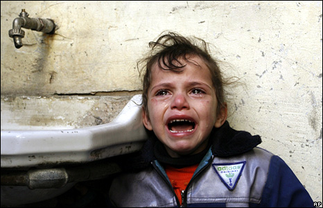 Crying Palestinian Girl